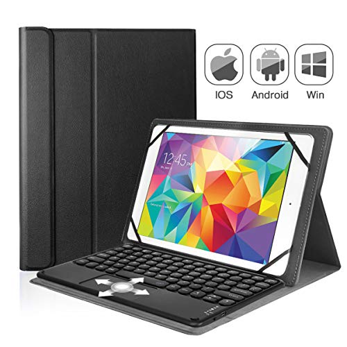 Coastacloud Keyboard Case for 9-10.2 inch iOS Android System Tablets,Detachable Bluetooth Wireless Keyboard Tablet case with Touch Pad and Leather Folio Stand Cover