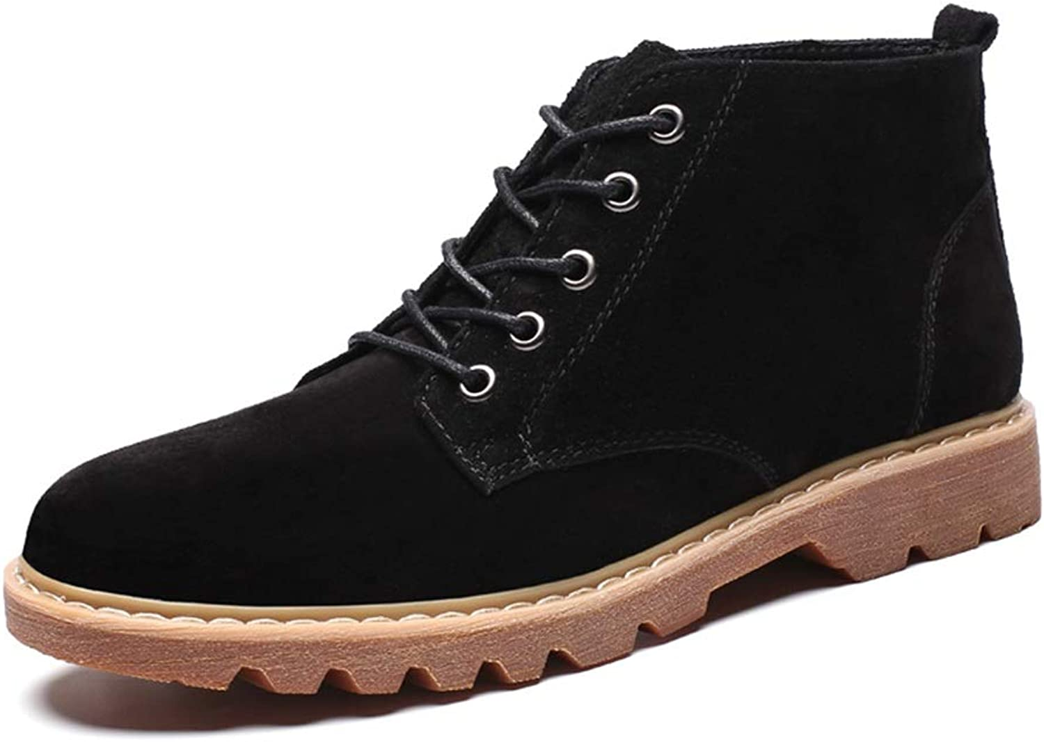 Xujw-shoes Men's Fashion Casual Ankle Work Boot Simple and Comfortable Classic Big Size High Top Leisure Boot