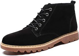 1c1e88b22c6 Apragaz Botas Casuales Simples de Gamuza Chukka para Hombres y Cómodos  Botines con Cordones Zapatos de