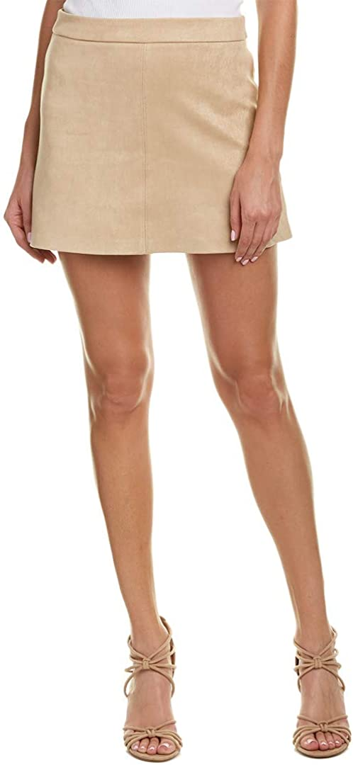 Jack by BB Dakota Women's Amil Faux Suede A-line Skirt