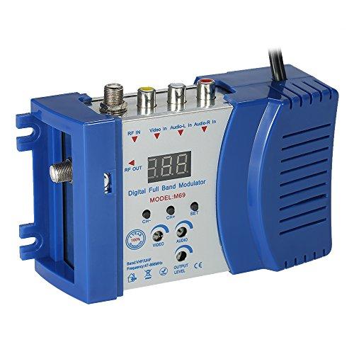 Docooler Audio Converter Digitaler HF-Modulator Kompakter HF-Modulator Audio-Video-TV-Konverter RHF UHF-Signalverstärker AC230V
