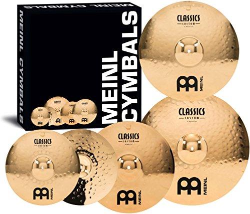 "Meinl Cymbals CC-141620+18 Classics Custom Bonus Pack Cymbal Box Set with 18"" Crash"