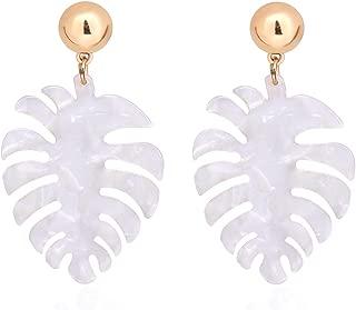 Acrylic Earrings For Women Girls Statement Palm Leaf Earrings Resin monstera Drop Dangle Earrings Fashion Jewelry