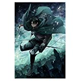 Cluis Attack on Titan Poster - Póster de pared con diseño de anime, 30 x 42 cm (estilo 03)