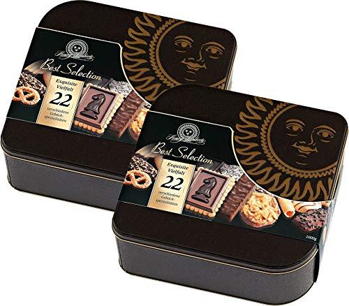 Henry Lambertz Gebäckmischung in einer wunderschönen Dose Best Selection 2 x 1 kg.