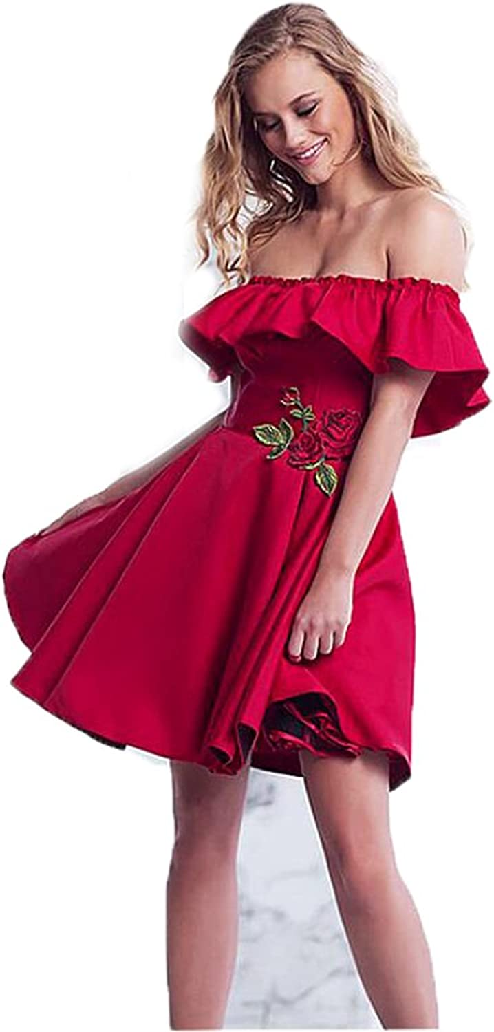 Chenghouse Short Prom Dresses Off The Shoulder Homecoming Dresses