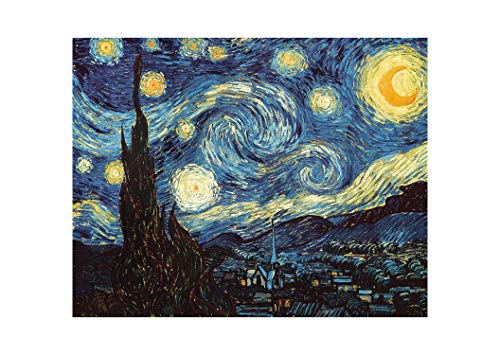 DIY Paint by Numbers Kit for Adults - Van Gogh The Starry Night Replica | DIY Paint by Numbers Landscape Scene Paintings Arts Craft for Home Wall Decor | Canvas, Brushes, Acrylic Paints Included