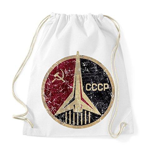 trvppy algodón Turn Bolsa Bolsa de deporte Modelo CCCP en diferentes colores, color Weiß, tamaño Talla única