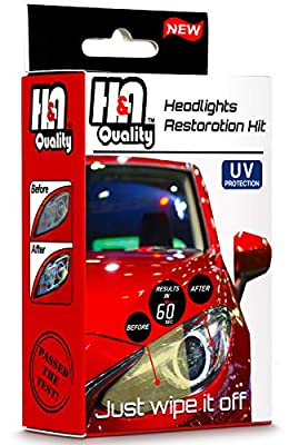 H&A QUALITY Headlight Restoration Kit, Headlights Cleaner Wipes Restore and Protect Your Car Lenses