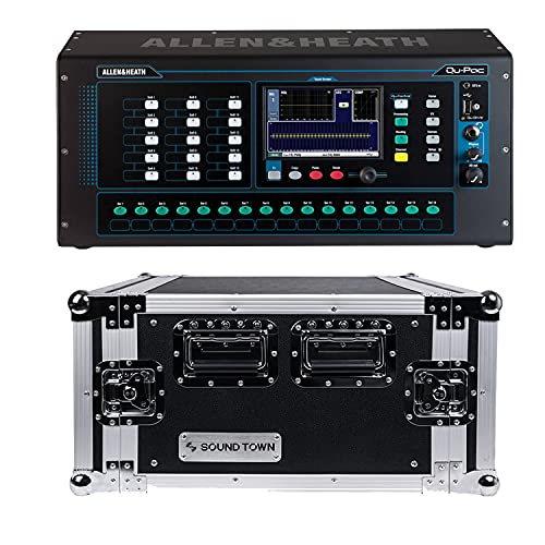 Allen & Heath Qu-Pac Rack Digital Mixer, SoundTown STRC-6U Case Bundle