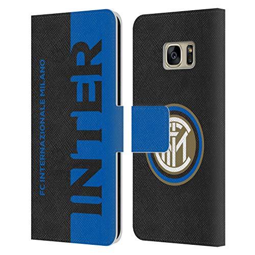 Head Case Designs Licenza Ufficiale Inter Milan metà Grafici Cover in Pelle a Portafoglio Compatibile con Samsung Galaxy S7