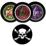 Jake's Mint Chew Cherry, BlackBerry, Apple Spice 3 Can Variety Pack with DC Crafts Nation Skin Can Cover - Jolly Roger