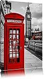 Klassische rote Telefonzelle London Format: 120x80 auf