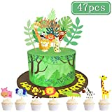 SPECOOL Jungle Animal Cake Topper DIY Dessert Décoration De Gâteau Joyeux...