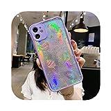 Coque pour Iphone 11,Coque Protection Caméra Papier Laser pour Iphone 11 12 Mini Pro X XR XS Max 8...