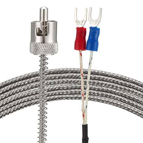 uxcell J Type Thermocouple 5mmx21mm Temperature Sensor Probe with 1 Meters Cable 32-1112F/0-600C