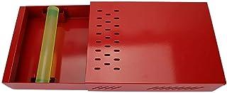 エスプレッソノックボックス、エスプレッソコーヒーグラウンド用のステンレス製引き出しタイプのコーヒーノックボックス-オフィス、キッチン、コーヒーショップ用のノックバー付き衝撃吸収性エスプレッソノック(ホワイト、レッド、シルバー)(2#)