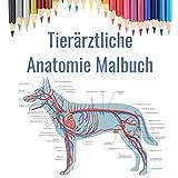 Tierärztliche Anatomie Malbuch: Veterinärmedizinische Schule Geschenk | Tierphysiologie Färbung Buch | Hund, Katze, Pferd, Vogel und mehr.