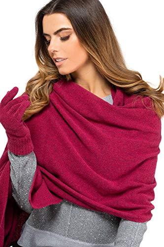 Kamea Damen Schal / 80% Wolle/Macerata/Frascati/Gorycja uvm, Winter Set:Fuchsia