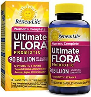 Renew Life Women's Complete Probiotic, Ultimate Flora, 90 Billion, 30 Capsules