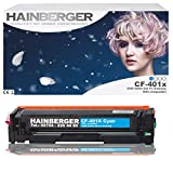 Hainberger Logic-Seek - Tóner para CF401X, compatible con HP Color LaserJet Pro M252dw Pro 200 M252n, color cian