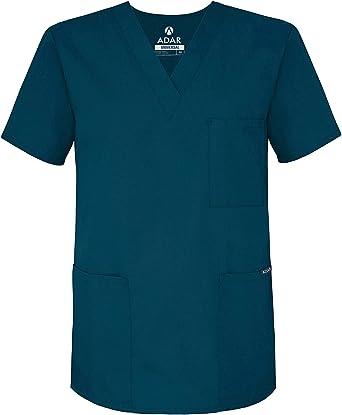 Adar Universal Unisex Scrubs - V-Neck Tunic Scrub Top