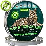 Vienapoli Collar antipulgas y garrapatas para Gatos, Resistente al Aqua, protección Activa de hasta 8 Meses, 33 centimetros, para qualquier tamaño de Gato