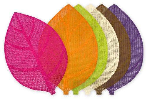 le jardin des cigales set de table 30x45cm fibre papier feuille prune