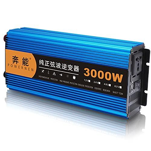 Inversor de onda sinusoidal pura 3000W / 4500W / 6000W / 8000W / 12000W DC 12V / 24V / 48V Convertidor de voltaje a 230V AC Convertidor de voltaje, toma de CA e interfaz USB,3000W-48V