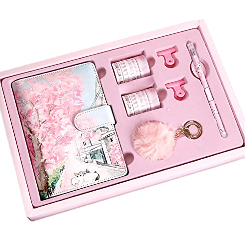 Libretas Bonitas Cuaderno Forro Diary Girl Sakura Cuaderno De Hojas Sueltas Diario Libro PlanificacióN De Horarios Set De Regalo Cuaderno Kawaii PapeleríA