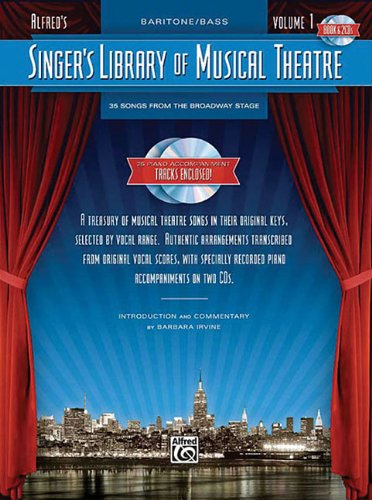 Singer\'s Library of Musical Theatre, Vol 1: Baritone/Bass Voice, Book & 2 CDs