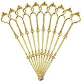 Surepromise 10 Set Metallstange Mittellochausstech 2 bis 3 Etage Etageren Gold für Hochzeitstorte Tortenständer Tortenhalter Torten