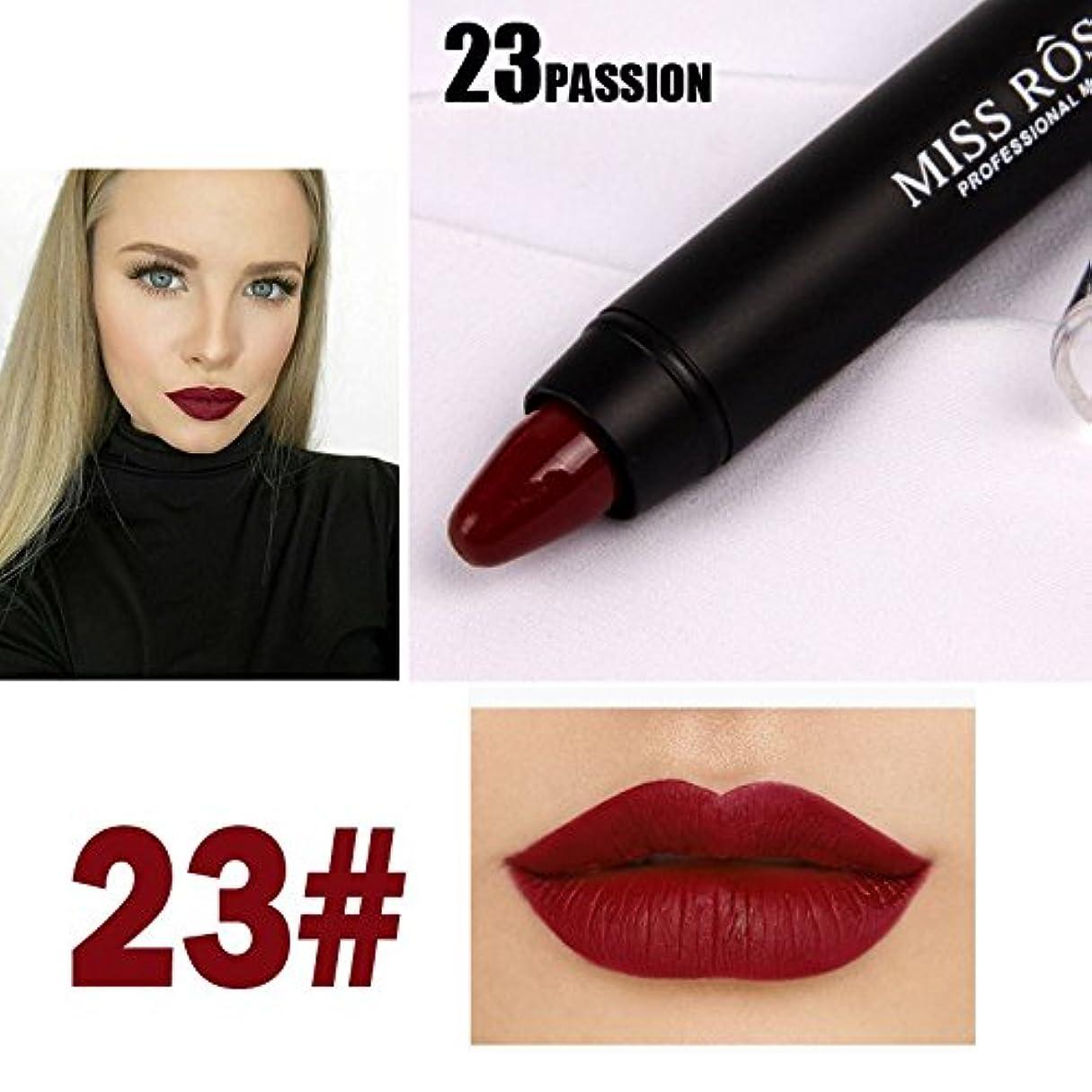 マスク自慢リーMISS ROSE Professional Women Waterproof Lipstick Lips Cream Beauty Lote Batom Matte Lipstick Nude Pencils Makeup