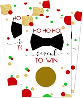 Christmas Scratch Off Party Games (28 Cards) Festive Holiday Events
