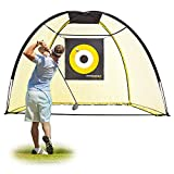 PodiuMax 9x7ft Golf Hitting Net with Target Sheet | Driving Range for Backyard & Indoor | Golfing Swing Training Aids