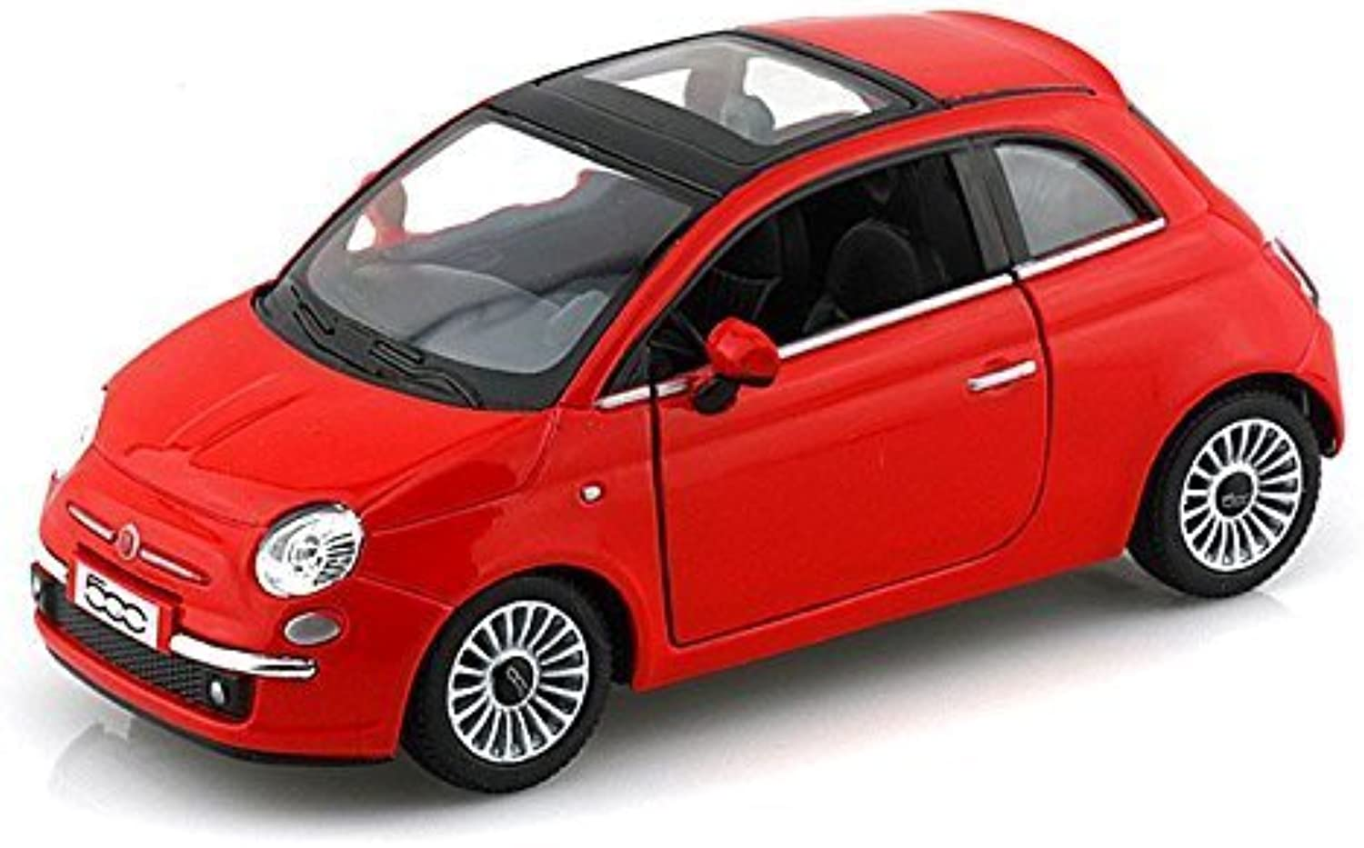 2007 Fiat 500 1 28 Red by Collectable Diecast