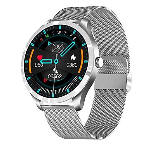 YDK The New Q9l Sports Smart Watch Men's Touch Pantalla Táctil Fitness Tracker Presión Arterial Tasa De Corazón Monitoreo De Sueño Monitoreo Multi-Acción Smart Watch,A