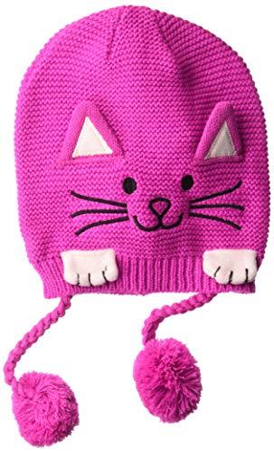 Kidorable Mädchen Lucky Cat Hat Winter-Zubehr-Set, Magenta pink, Einheitsgröße