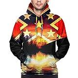Thin Sun Protection Long Sleeve Men's Before and Afterp 3D Print Gadsden Flag Hoodie Shirt Sweater XL