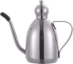 Olive Oil Dispenser Bottle, Oil Canister Kitchen 12 Oz / 17 Oz / 34 Oz Stainless Steel Olive Oil Vinegar Can Pot Oil Dispe...
