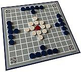 Spieltz 52290: Hnefatafl – El juego vikingo al aire libre para playa y jardín – Plan de juego (lona de camión) y embalaje impermeable y lavable.