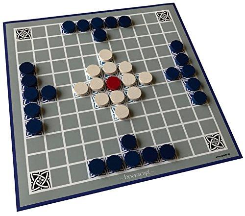 Spieltz 52290: Hnefatafl – il gioco vichingo, gioco per esterni per spiaggia e giardino, piano di gioco (telone per autocarri) e confezione impermeabile e lavabile.