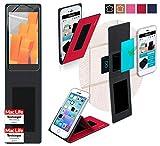 Hülle für Wileyfox Spark X Tasche Cover Hülle Bumper | Rot | Testsieger