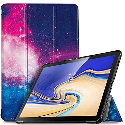 IVSO Funda Carcasa para Samsung Galaxy Tab S4 10.5 SM-T830N/T835N, Slim PU Protectora Carcasa con Auto Wake/Sleep Función para Samsung Galaxy Tab S4 SM-T830N/T835N 10.5 Pulgadas 2018, Negro