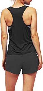 Bestisun Basic Athletic Activewear Tanks Yoga Exercise Clothes Racerback Athletic Workout Tops for Women