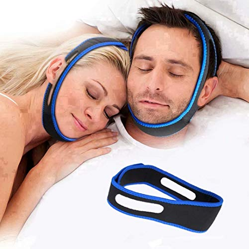 Anti Snoring Chin Strap, Stop Snoring Chin Strap for Cpap Users, Adjustable Snore Reduction Device for Sleeping Better, Breathable Stop Snoring Sleep Aid for Men Women Snore Stopper Snoring Solution