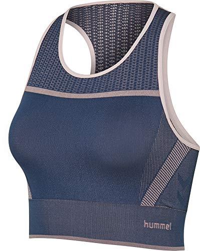 hummel Damen Calypso Seamless Top Sport-BH, Black Iris, XL/2XL