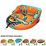 Big Sky Wavy Legend Inflatable Towable Tube for Boating 3 Person - Durable Tube for Lake, Beach, River, Snow - Watersports Towables - Quick Inflation and Deflation - 3 Man Boat Toys and Floats.