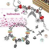 Kit de fabrication de bracelets WinWonder, 16 perles 3 chaînes de serpent en plaqué 35 Accessoires de fabrication de bijoux bricolage avec 1 boîte pour cadeau d'artisanat pour filles