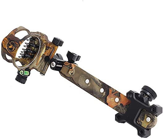 Compound Bow Sight Archery Micro Adjustable Optical Fiber Hunting 7 Pin .019